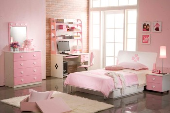 bedroom-astounding-pink-sweet-bedroom-decoration-using-light-pink-narrow-girl-dresser-with-mirror-including-light-pink-flower-girl-headboard-and-light-pink-girl-room-wall-paint-beautiful