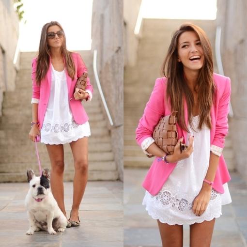 Resultado de imagem para looks blazer rosa